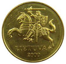 (A6) - Litauen Lithuania - 50 Centu 2000 - Vytis - AU-UNC - KM# 108