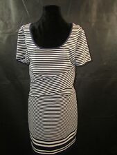 MAX STUDIO SPECIALTY PRODUCTS Womans White and Blue Striped Dress Size L NWT