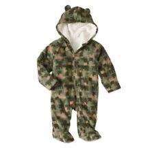 Pram snowsuit fleece infant boys size 0-3 months new Healthtex moose bears green