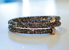 Swarovski Crystaldust Bangle Muti-colored Rose Gold S 5372878 Brand New In Box