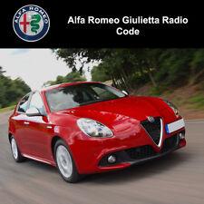 Alfa Romeo Giulietta radio code Stéréo PIN Unlock Service Fast Décoder en quelques minutes