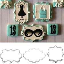 3pcs Fondant Cookies Pastry Sugar craft Decorating Mold Frame Cutter ToolSC