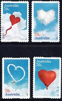 Australia 2015 Love is in the air - set of 4 stamps P Used Self Adhesive