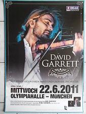 DAVID GARRETT  2011 MÜNCHEN  orig.Concert-Konzert-Tour-Poster-Plakat DIN A1