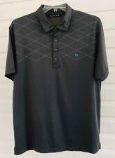 ⛳️ Travis Mathew Golf Polo Shirt PIMA-POLYESTER Diamond Stitch m-Logo • Men's XL