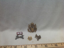 US MILITARY PINS-US ARMY WWI EAGLE,SWEETHEART SERVICE,D OF A, SADDLE-VINTAGE