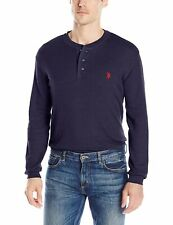 NEW U.S. Polo Assn. Men's Long Sleeve Thermal Henley, Classic Navy, SIZE X-Large