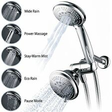 Hydroluxe Full-Chrome 24 Function Ultra-Luxury 3-way 2 in 1 Shower head Combo