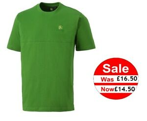 John Deere Men's Green T-Shirt w/ Decorative Seam