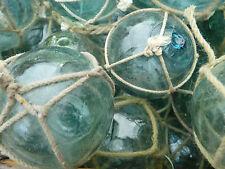 "Japanese Glass Fishing FLOATS 2"" Netted LOT-30 Round Balls Bridal Pool Tiki Vntg"