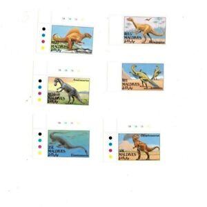 VINTAGE CLASSICS - MALDIVES - Dinosaurs Set of 6 - MNH
