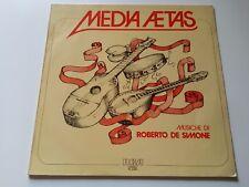 ROBERTO DE SIMONE media aetas    LP ORIGINALE     italian folk  psych - prog