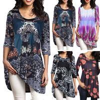 Women Loose Half Sleeve Casual Blouse Shirt Tunic Tops Fashion Blouse Oversized