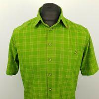 Mammut Mens Shirt Outdoor MEDIUM Short Sleeve Green Regular Fit Check
