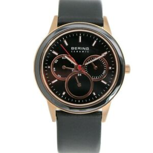 Bering Men's Wristwatch Slim Ceramic - 33840-446 Leather