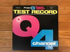 Project 3/Popular Science Quadraphonic Test Record 4 Channel vinyl Lp Pr401Sq