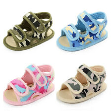 New Arrived Camouflage Baby Boy Girl Crib Shoes Toddler Soft Sole Summer Sandals