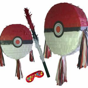 Pokeball Pinata smash Birthday Party Pokémon GO Pikachu Poké Ball piñata UK