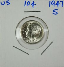 1947-S Silver Roosevelt Dime Choice/Gem Uncirculated