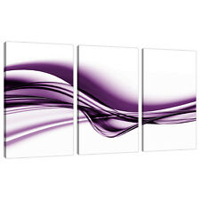 Set di 3 LARGE VIOLA stampe su tela immagini UK Camera Da Letto Wall Art 3031