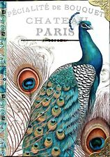 eNCHANTEE aCCESSORIES Majestic Peacock Note Book Journal Embossed Metal Corners