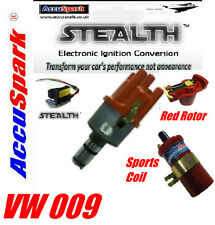 VW Beetle,Camper,Ghia,Van,Bus 009 Electronic Distributor + Red sports Coil