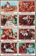 SEVEN SEAS TO CALAIS original 1962 lobby card set ROD TAYLOR/KEITH MICHELL