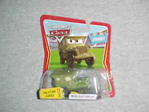 "Mattel HW Disney Pixar Cars CHASE Car ""SALUTING SARGE"" JEEP- VHTF- NEW"
