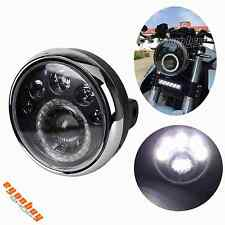 """E-marked 12V Motorcycle 7"""" High/ Low Headlight Front Lamp With LED Running Light"""