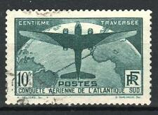"FRANCE STAMP TIMBRE 321 "" TRAVERSEE ATLANTIQUE SUD 10F VERT "" OBLITERE TTB M818"