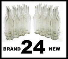 WINE BOTTLES 24 CLEAR FLINT BORDEAUX BRAND NEW 2 CASES OF 12 750ml SPEED SHIPPED