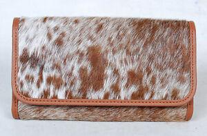 100% Real Cowhide Wallet Real Leather Hair ON Western Ladies Wallets  SA-2996