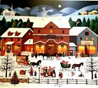 """Charles Wysocki Christmas Eve Artist Proof S & N With Cert Image Size 21"""" x 18"""""""