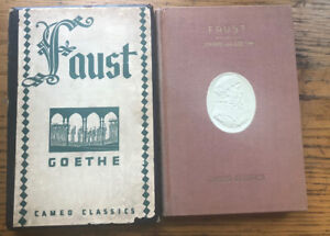 FAUST by Goethe, 1930s Cameo Classics w Slipcover Illustrated Harry Clarke