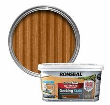 Ronseal Perfect Finish la massima protezione Decking macchia TEAK 2.5L + Deck Pad