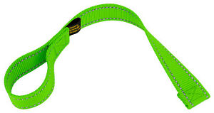 Country Brook Design® Hot Green Winch Hook Pull Strap with Reflective Nylon
