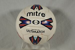 Official Mitre Ultimatch Football Size 5 RARE Retro Soccer Ball Premiership