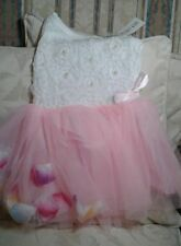 Cotton Blend Tutu Floral Dresses (0-24 Months) for Girls