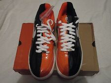 Nike Air Force 1 Premium Black White Orange Blaze Halloween Size 11 Uptowns AF1