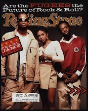 """1996 The Fugees - Lauryn Hill - Wyclef Jean Rolling Stone Magazine """"Cover Only"""""""