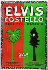 ELVIS COSTELLO/#45/TWO SHOWS/1991 NEVER ROLLED/CONCERT POSTER/L.A./BERKELEY