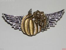 steampunk badge brooch wings pumpkin hallowe'en Abzeichen Brosche larp cosplay