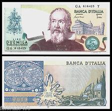 RIPROD 2.000 LIRE GALILEO GALILEI FDS LEONE SAN MARCO TORRE PISA SEGNI ZODIACALI