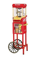 Vintage Popcorn Maker Cart Machine Stand Popper Home Movie Theater Room NEW