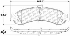 Ceramic Disc Brake Pad Set-4WD Rear Centric 103.08340