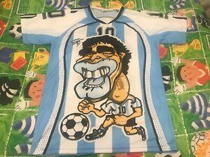 Maradona Fan Jersey Camiseta Maglia Maillot Trikot Rare Vintage Size 2