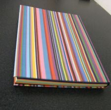 Paperchase Rainbow Stripes Notebook A5 with Rainbow Paper