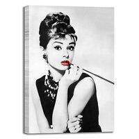 Audrey Hepburn modern art 2 design quadro stampa tela dipinto telaio arredo casa
