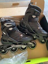 Rollerblade Zetrablade Mens Adult Fitness Inline Skate, Size 8, Black, Silver