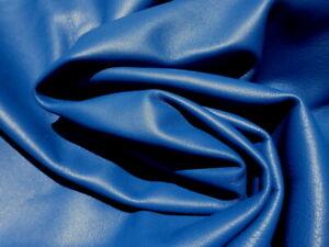 Lambskin lamb sheep sheepskin leather hide Royal Blue glove soft smooth finish